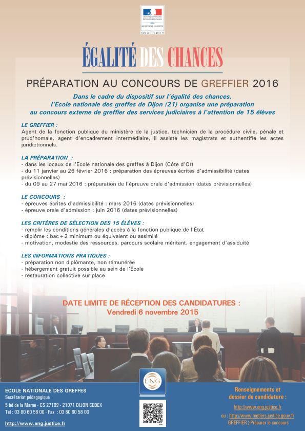 Affiche classe préparatoire greffier ENG 2016