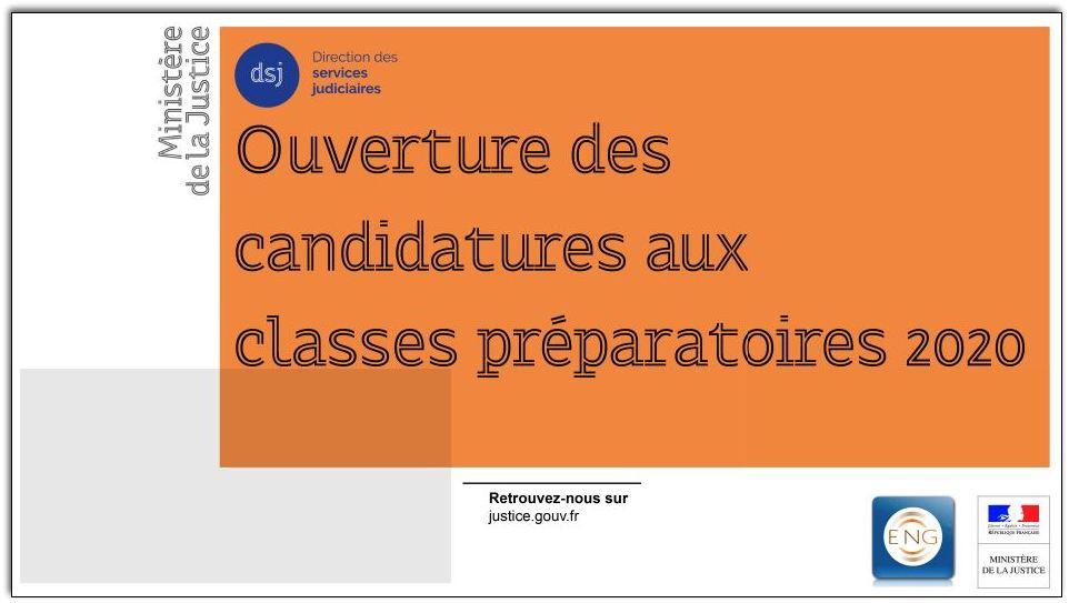 Ouverture des classes préparatoires aux concours 2020