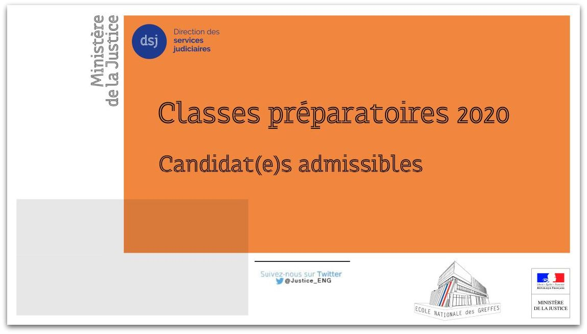 Classes préparatoires de l'ENG - candidat(e)s  admissibles - session 2020