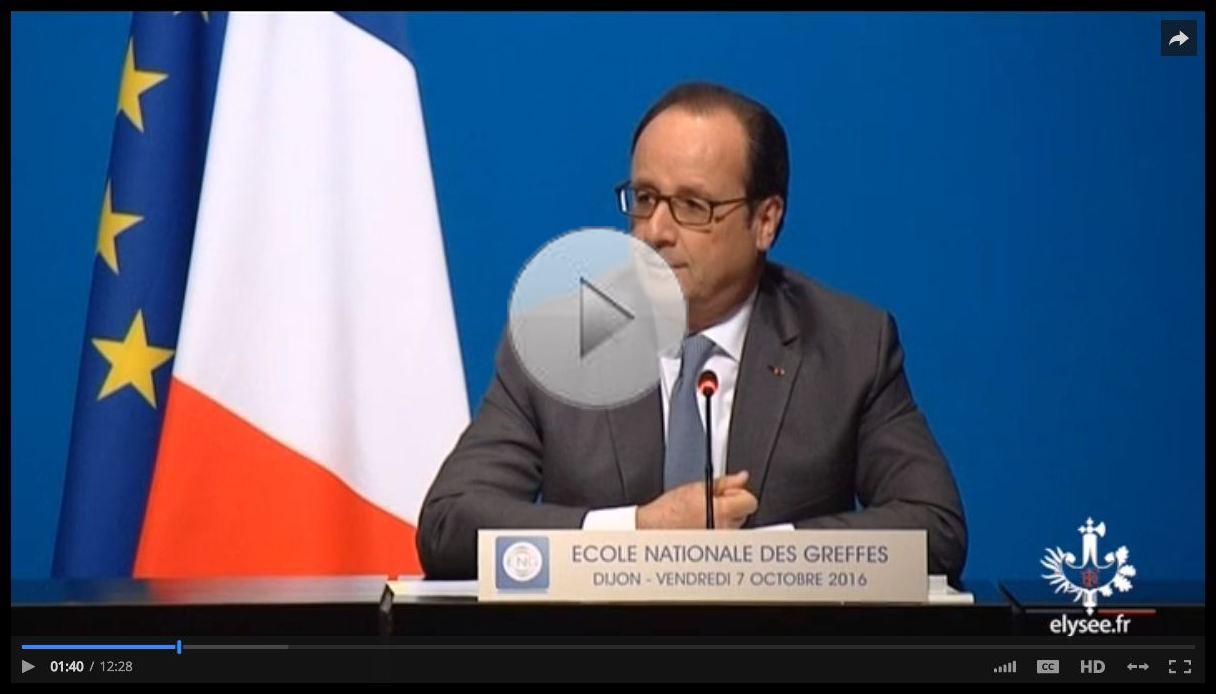 Discours du président de la République -  ENG - 7 octobre 2016
