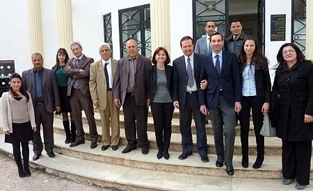 La délégation française avec des cadres de l'ISM et des stagiaires © ENG