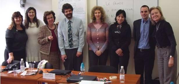 Madame MELMOUX et Monsieur RICHARD en compagnie d'agents bulgares