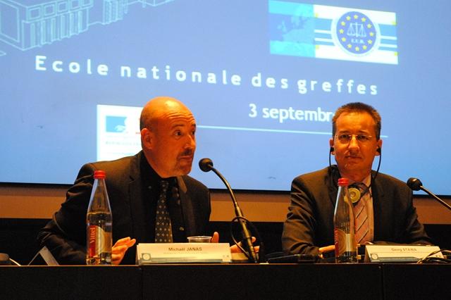 Colloque européen sur la formation des greffiers / rechtspflegers © ENG