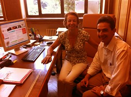 Madame Lourdes Montilla Gordo et Monsieur Juan M. Avila de Encio, greffier au CEJ
