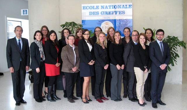 Accueil d'une délégation d'auditeurs de justice © ENG