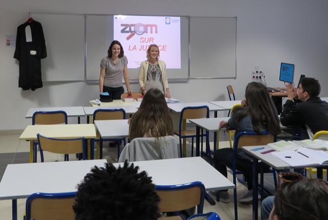 Interventions de greffiers en chef stagiaires dans des établissements scolaires © ENG