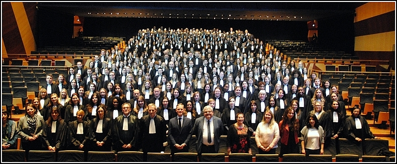 Prestation de serment de 340 greffiers stagiaires (promotion Jacques CHIRAC)