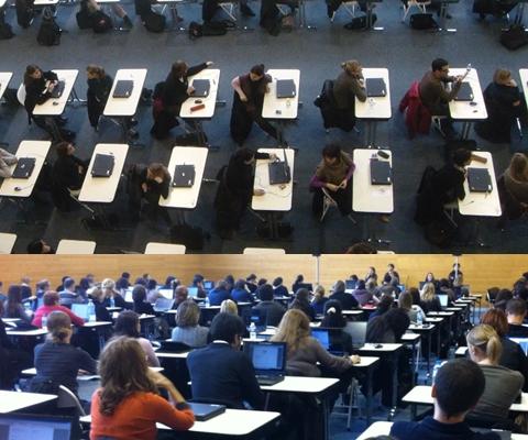 Evaluations organisées dans le gymnase de l'Ecole nationale des greffes