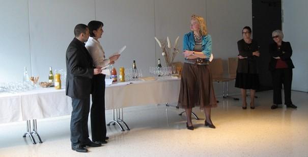 Réception organisée pour le parrainage de la promotion A2011 C01 - Monsieur Julien RUTIGLIANO, Madame Fabienne HERMETET et Madame Béatrice MELMOUX © ENG