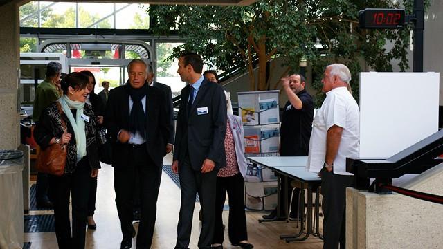 Visite de Monsieur REBSAMEN, Sénateur-maire de Dijon © ENG