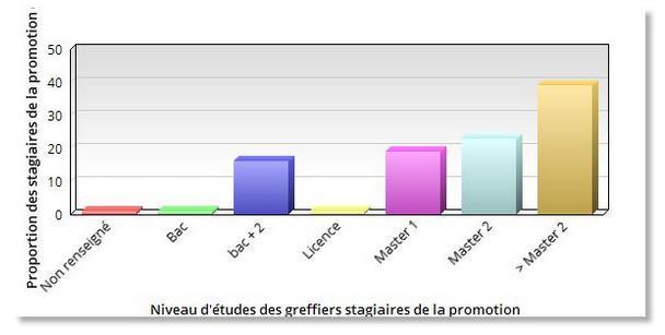 niveau d'études des stagiaires de la promotion B2019 C03